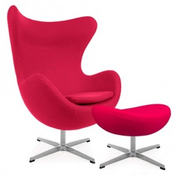 Jacobsen Egg chair and foot...