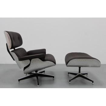 Sedia Lounge Eames aluminio