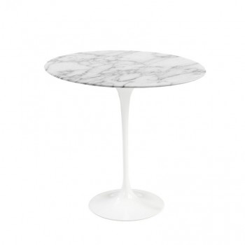 Tulip side table marble